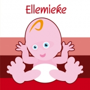 Blije baby rood